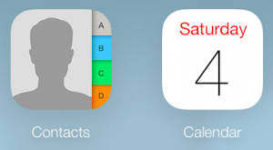 iOS Icons for Contacts and Calendars