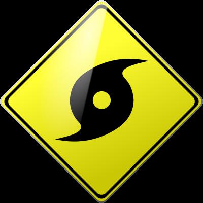 Hurricane warning clip art