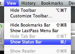 Show Status Bar