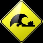 Caution Tsunami with Home