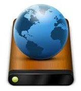 Globe Atop Hard Disk Drive