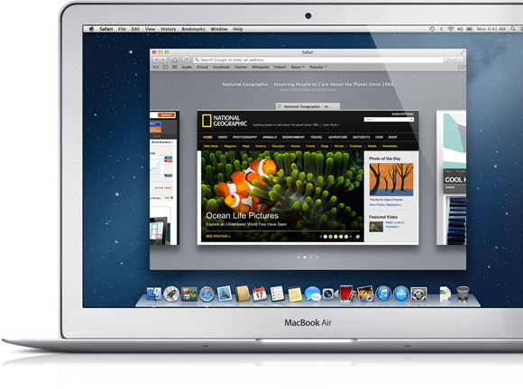 MacBook Laptop with Safari Open