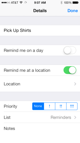 Reminders Configuration