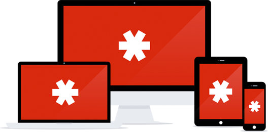 LastPass logos on multiple devices