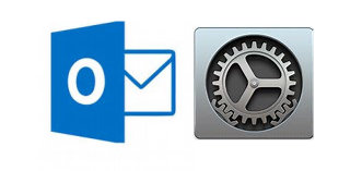 Outlook and Settings Icons