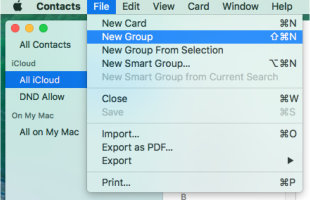 Contacts on Mac