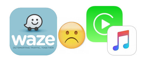 Waze, a Sad Face Emoji, CarPlay, and Music